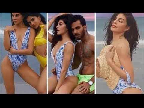 Jacqueline Fernandez Enjoyed in BlKlNl at Beach with her Family and Full Team   B'DAY Party