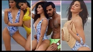 Jacqueline Fernandez Enjoyed in BlKlNl at Beach with her Family and Full Team | B'DAY Party