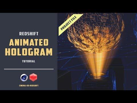 Hologram effect using redshift renderer [Project file included][CINEMA 4D TUTORIAL]