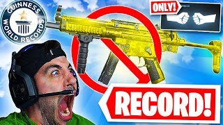 WORLD RECORD MOST KILLS with NO GUNS! (Modern Warfare Warzone)