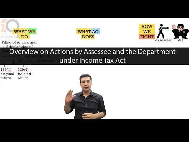 Overview - Actions by Assessee and the Department under Income Tax Act
