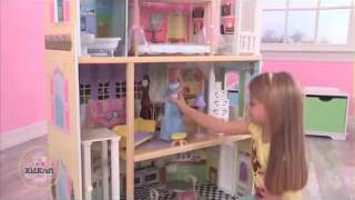 New Girls Wooden Dollhouse For Barbie Size Dolls By Kidkraft