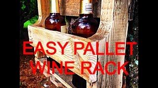 Easy Pallet Wine Rack