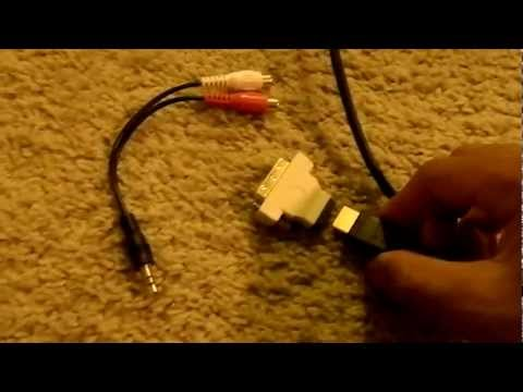 HDMI To DVI Adapter PS3 Settings ( W/ Audio Sound )