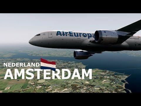 Prepar3D - Landing Amsterdam (EHAM) | B788