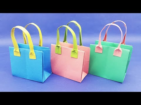 Origami Bag - How to make a Paper Bag (Easy DIY Craft Tutorial)