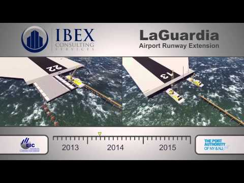 LaGuardia Airport Runways - 4D Construction Simulation