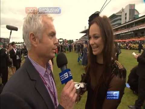 Girl with Short Dress Melbourne Cup 2011 who is she.VRO