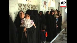 Voting underway in holy Shiite city and Sadr City