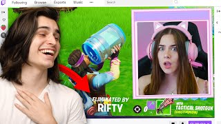 So I Stream Sniped my Girlfriend on Fortnite... AGAIN (TRIGGERED)