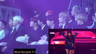 REACTION 방탄 소년들 BTS TO 블랙 핀크 BLACKPINK GDA 2K18 ( Jennie Focus)