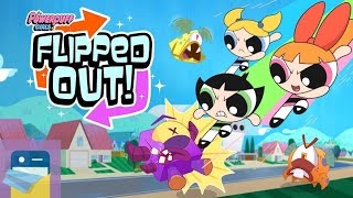 Flipped Out: Townsville Super Tuff 11 & 12 - Powerpuff Girls Match 3 Puzzle / Fighting: iOS Gameplay