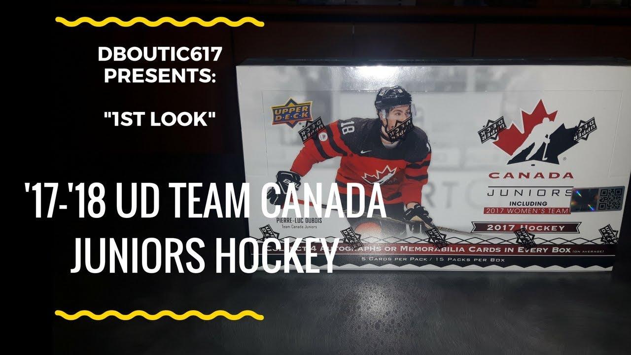 1st Look 1 17 18 Ud Team Canada Juniors Hockey Cards Dean S