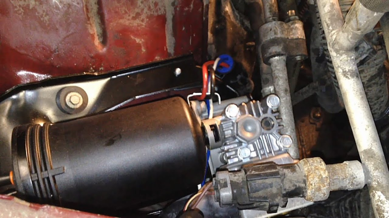 small resolution of ford air ride suspension air compressor replacement