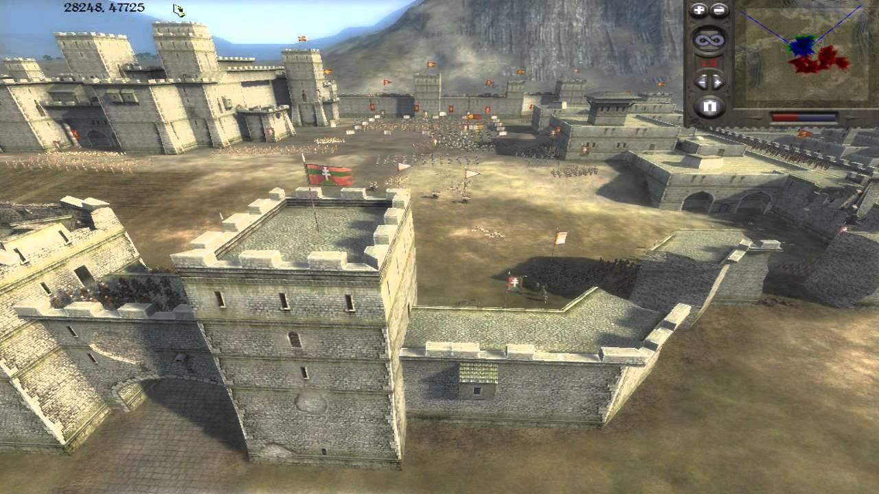 Medieval 2 Total War Online Battle #50 (3v3 Siege) - ups and