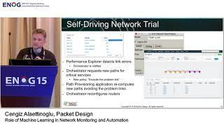 ENOG 15: Роль машинного обучения в мониторинге...  / Ченгиз Алаеттиноглу, Packet Design  (RU)