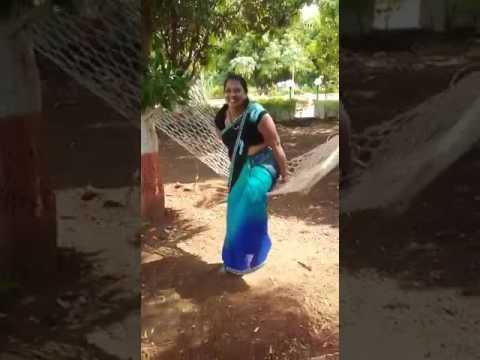 Whatsapp funny video | A beautiful girl falling down in swing net
