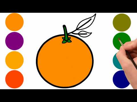 Orange Coloring Page for Kids | How to Draw Orange | Drawing for Kids | Learn Color For Kids Mp3