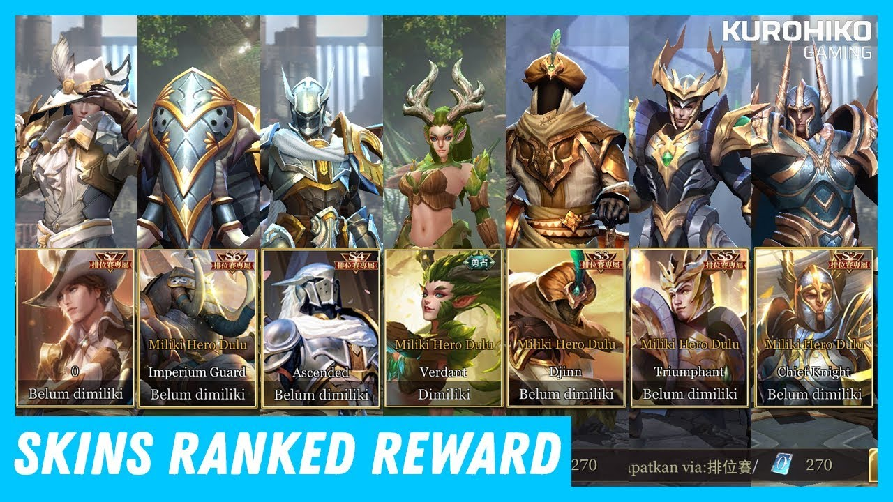 All Skins Ranked Reward Arena Of Valor Aov
