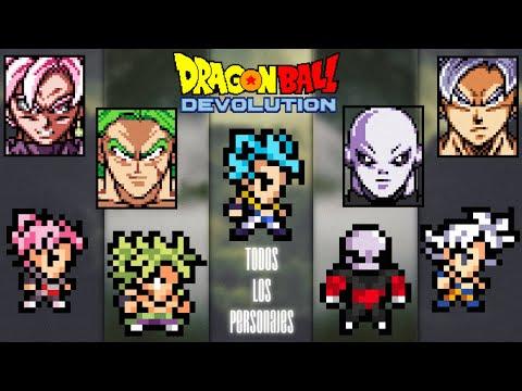Dragon Ball Z Devolution | Todos Los Personajes + Musica