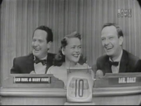 What's My Line? - Les Paul & Mary Ford; Margaret Truman [panel] (Jun 13, 1954)