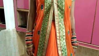 Saree draping new style, साडी़ पहने जैकेट स्टाईल  Seema jaitly