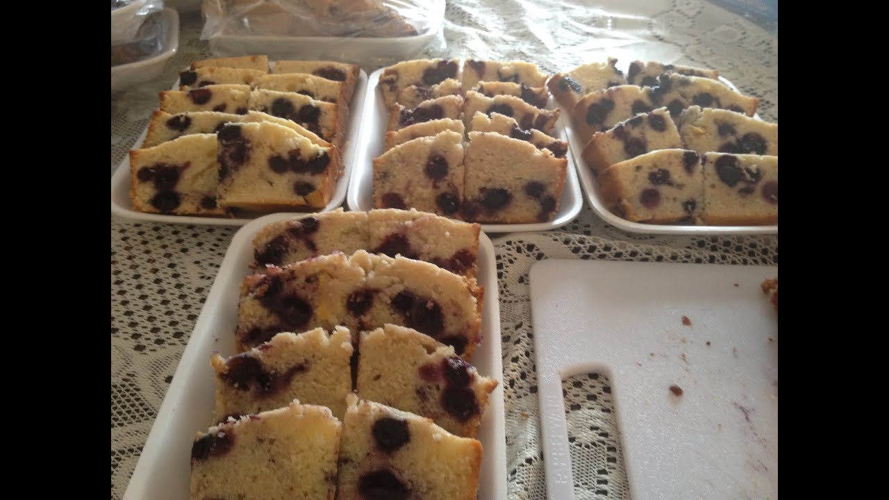 How To Make Home Made Lemon Blueberry Loaf With Kitchenaid Mixer
