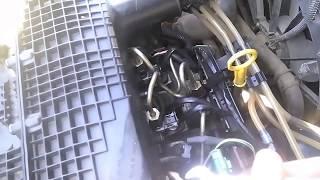 Как снять форсунку Delphi на двигателе 1.5 dCi