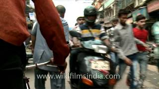 Cycle rickshaw ride through Chandni Chowk