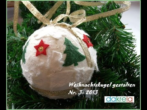 diy weihnachtskugel basteln christmas ball serie 3. Black Bedroom Furniture Sets. Home Design Ideas