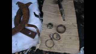 横送り螺旋のベアリングが焼け付きアウターレースをなんとか外す工具を...