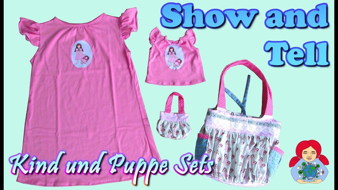 Show and Tell | Kind und Puppe Nachthemd und Taschen Set - YouTube