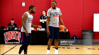 Kevin Durant VS  Kyrie Irving Battle To See Who Can Make The Most 3 Pointers.HoopJab