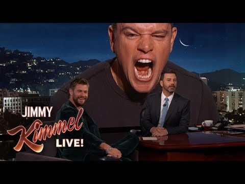 Matt Damon Ruins Chris Hemsworth Interview en streaming