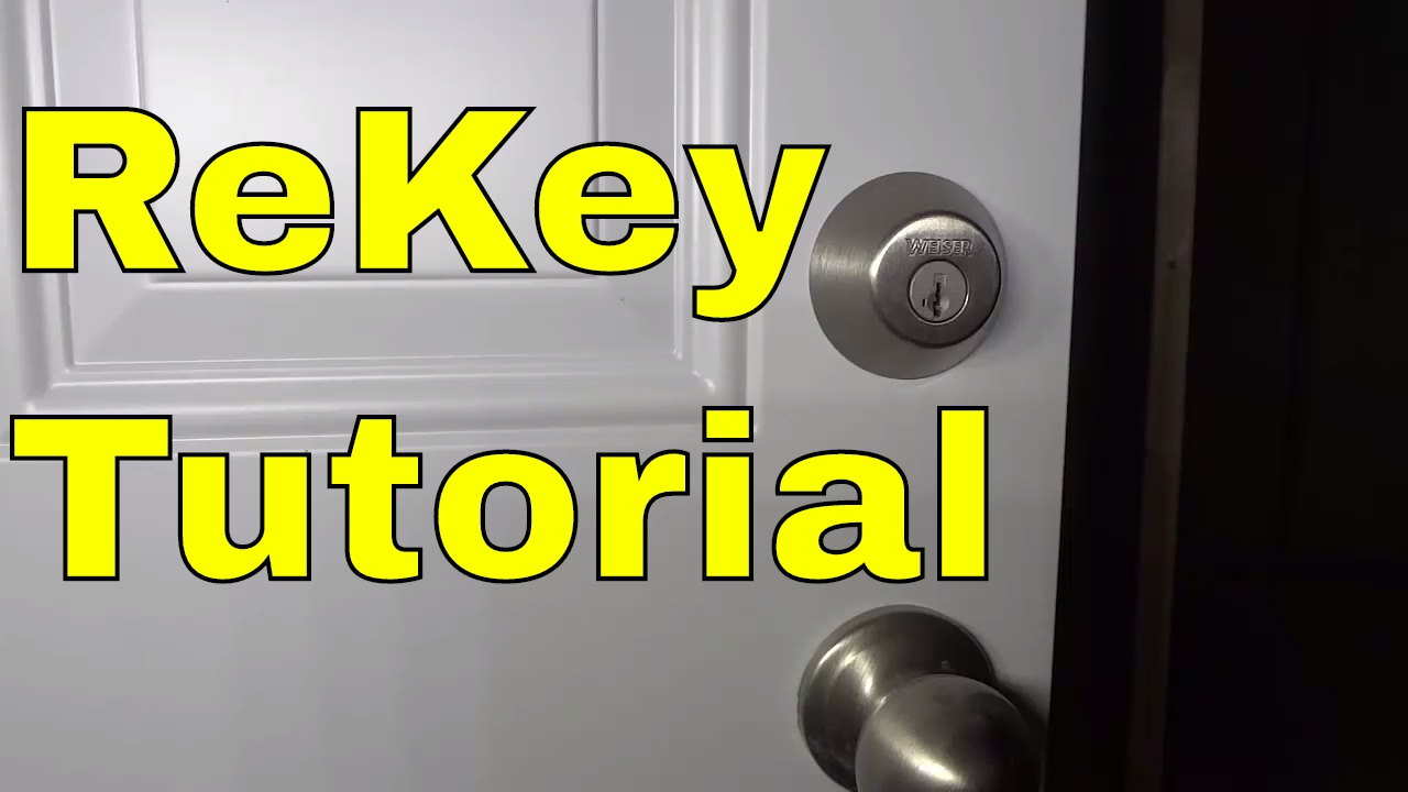 How To Rekey A Weiser Lock Smartkey Tutorial Youtube