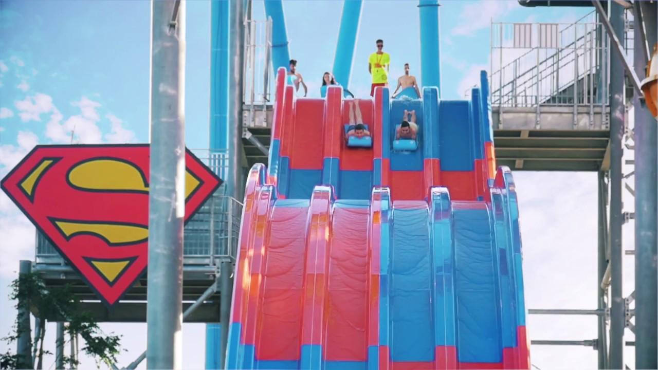 6 Nuevas Atracciones Parque Warner Beach Youtube