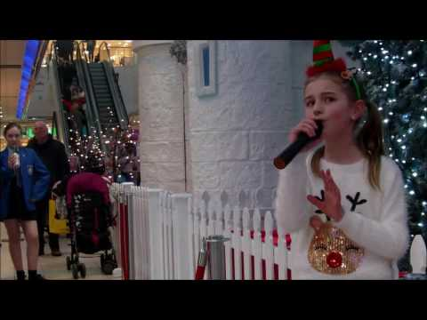 8 year old Cora sings for christmas songs for children in the cross fire