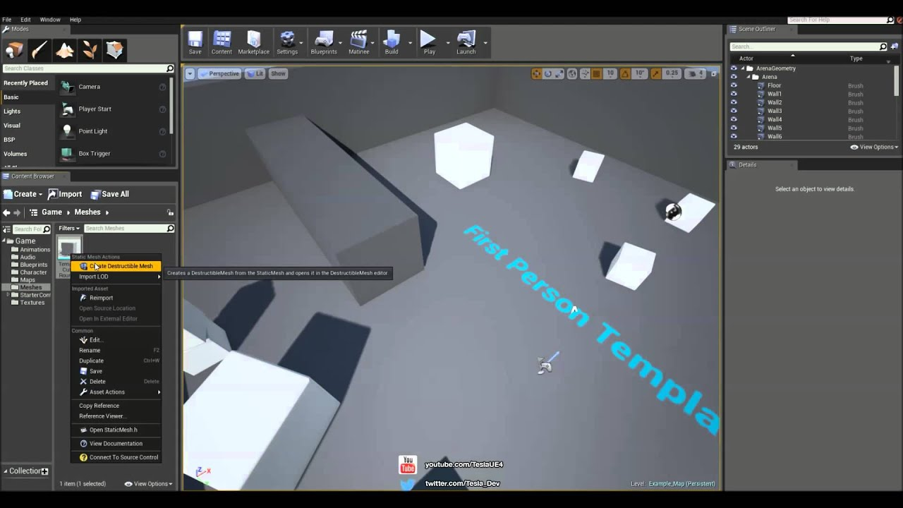 Unreal engine 4 tutorial partial destruction physx youtube malvernweather Gallery