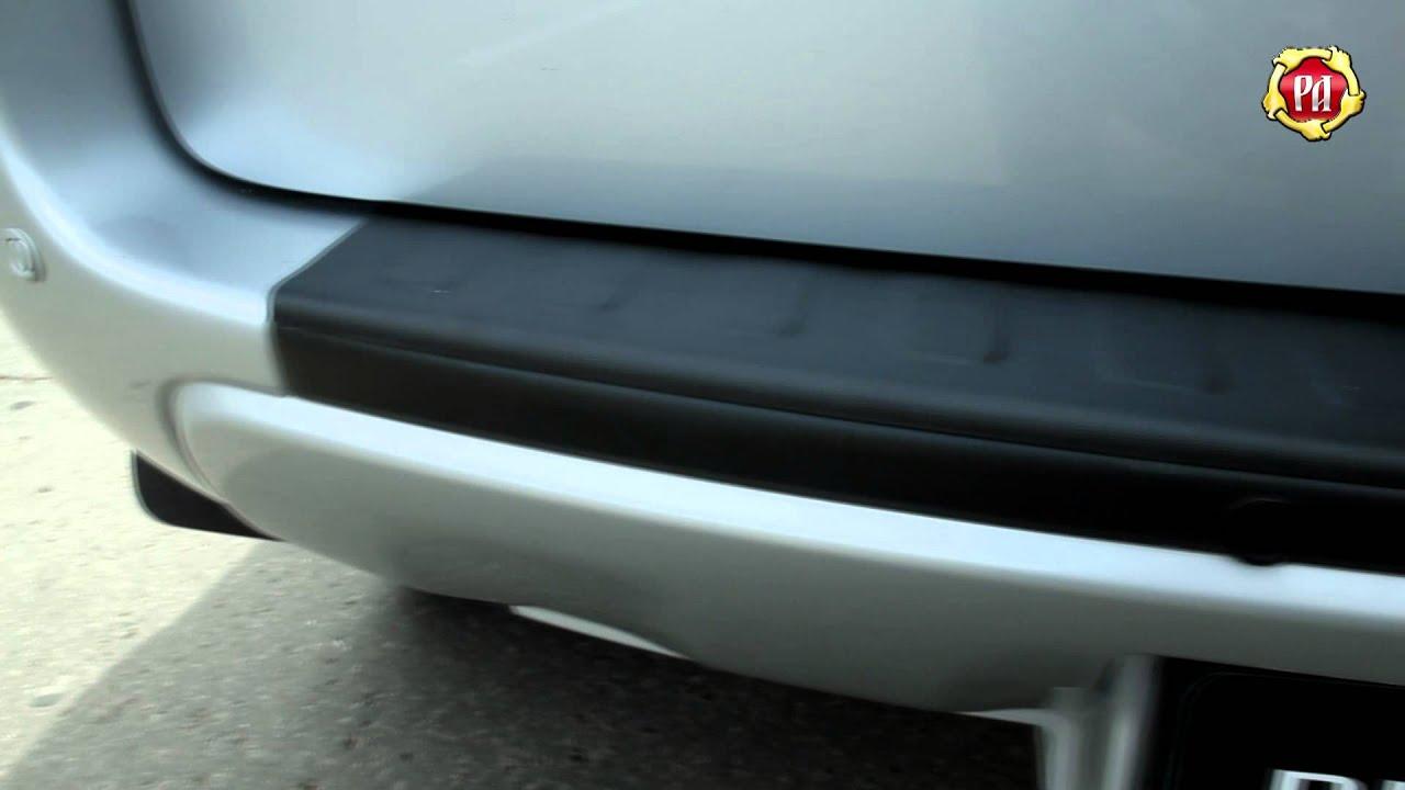 Накладка на задний бампер BMW X5 (russ artel.ru)