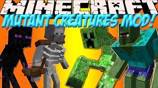 """Мобы Мутанты в Minecraft!Обзор мода Minecraft #81 """"Mutant Creatures"""""""