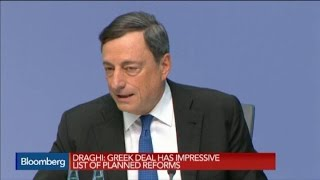 Draghi: Debt Relief for Greece Is 'Uncontroversial'