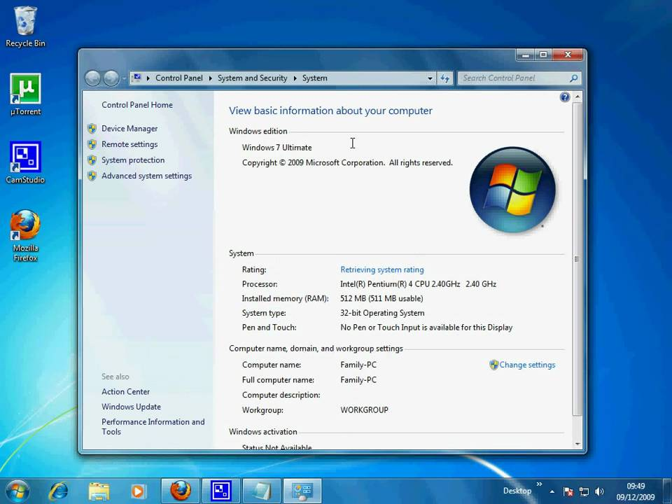Windows vista home premium not updating
