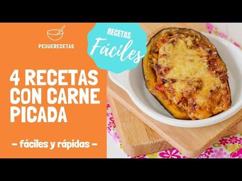 4 Recetas Con Carne Picada Recetas Fáciles Y Rápidas Con
