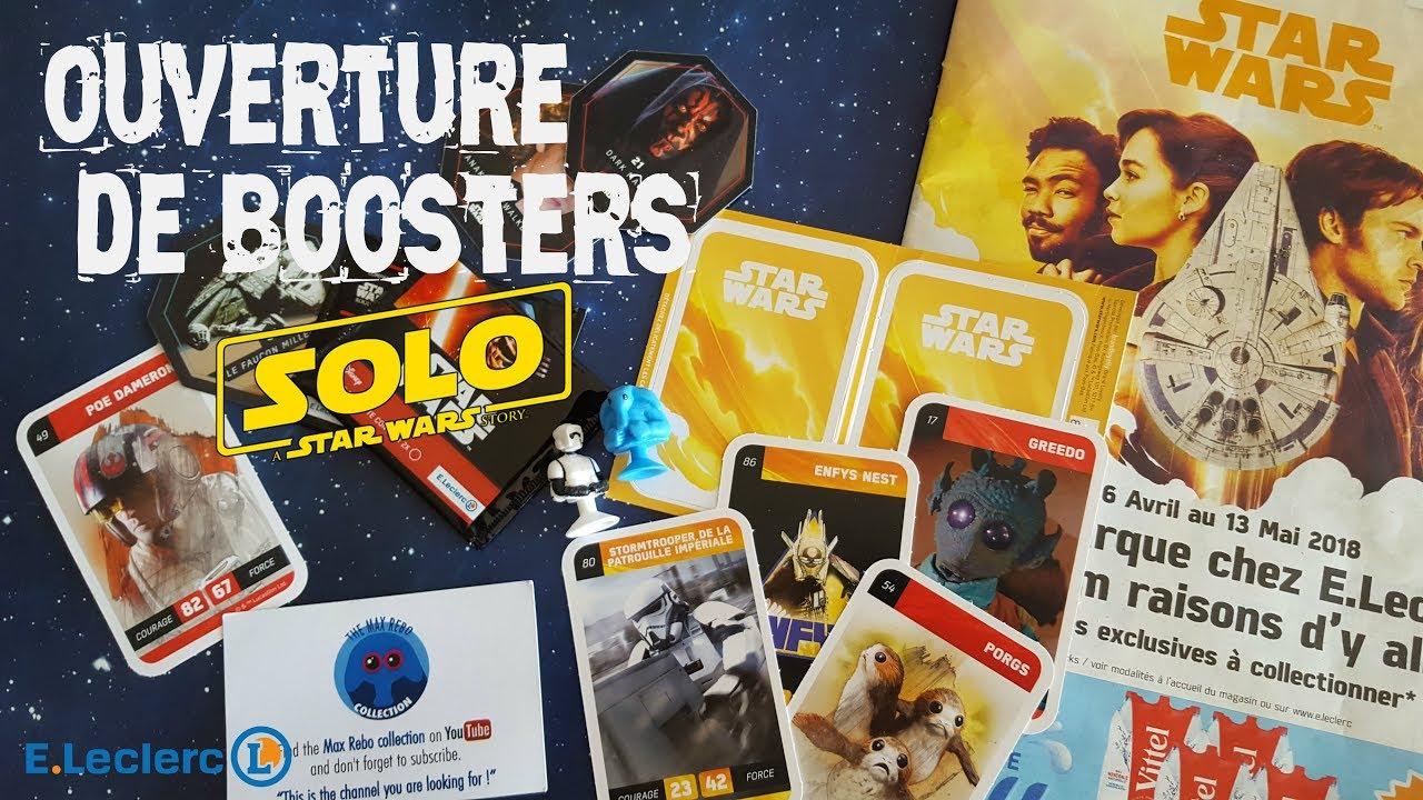 Carte Star Wars Leclerc.Ouverture De Boosters De Cartes Star Wars Solo Leclerc Et Presentation De La Collection 2018