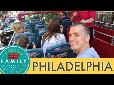 DOUBLE-DECKER FAMILY FUN IN PHILLY // We met a NASCAR racer!!!