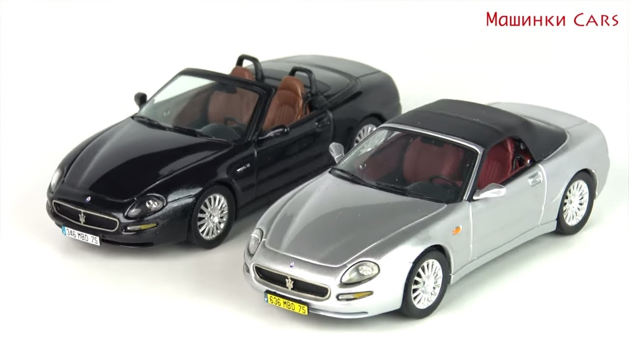 6 toy cars for kids maserati - youtube