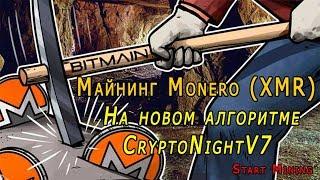 Майнинг Monero (XMR) на алгоритме CryptoNightV7. Новый майнер