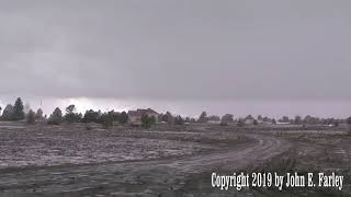Close lightning strike in winter thunderstorm - 4/3/19, Pagosa Springs, CO