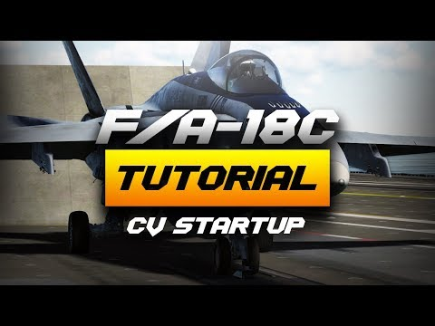 DCS F/A-18C Realistic Carrier Startup Procedure