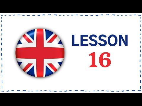Kurz angličtiny pro samouky: Lekce 16